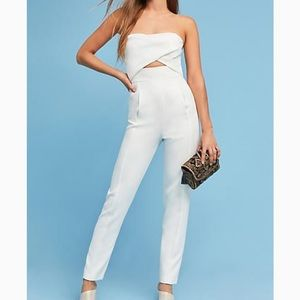 Anthropologie White Pantsuit
